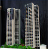 Single Residential Building Architectural Model scale 1/100