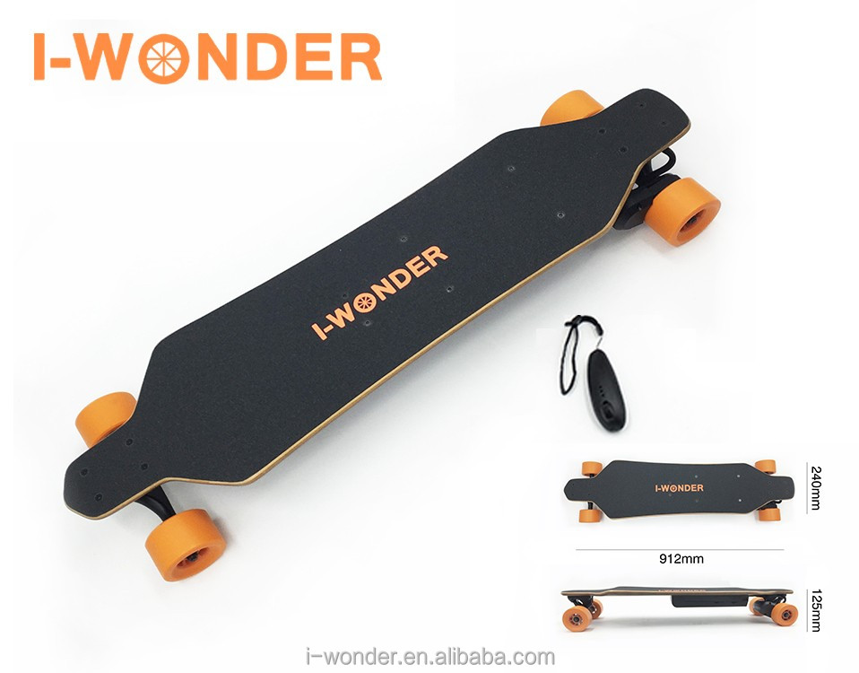 I-WONDER,Electric longboard 1200W 24V/8.8A ,Brushless with Hall sensor motor,remote control SK-B2,Electric skateboard scooert