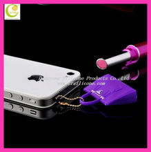 Christmas Promotional Giveaway!3.5mm Hot Selling Fashion Style Mini Bag Silicone Cell Phone Plug Mobile Phone anti Dust Plug