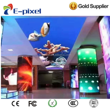 P3 P4 P6 P10 HD Creative full color led soft curved display panel rgb led module/led video sreen by china factory price