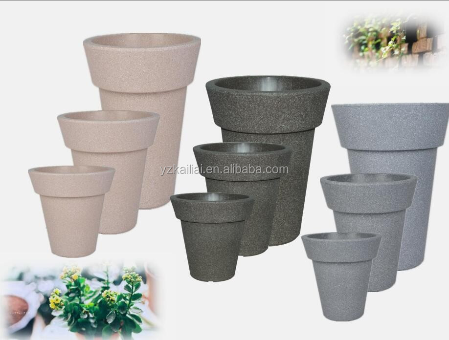 balcony painted plastic flower pot
