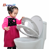 European Standard UF soft close 3 pieces adult and kids toilet seat
