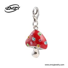 Mix Style Crystal Mushroom Charm Metal Pendant, Wholesale Custom Alloy Thomas Pendant fo Handcraft Bracelet & Necklace
