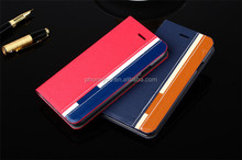 Mix Color Business Flip Stand PU Leather Phone Case Shell For lava pixel v1