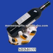 Cat ceramic wine bottle holder