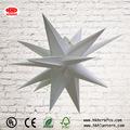 Collapsible plastic outdoor christmas lights star