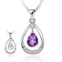 Hot Products in 215 Prefect Designs Stunning Women Silver Pendant with Happiness Angel Teardrop Shaped Diamond