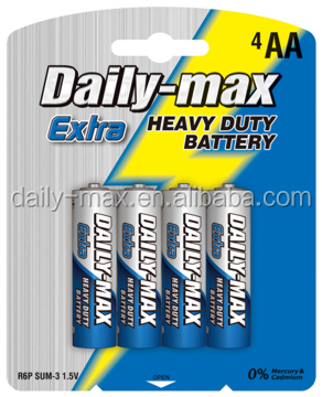 size AA R6P 1.5V battery manufacturer