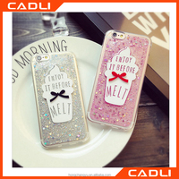 Color Cute Glitter Star Dynamic Back Case cover for iphone 6 6s transparent clear pc phone back housing