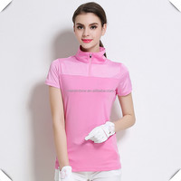 China wholesale 1/4 zip mock neck Fashion new design cool max dry fit women golf polo shirts custom made