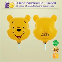 2016 Wholesale Clamp holder bear shaped helium balloon for party decoration foil balloon