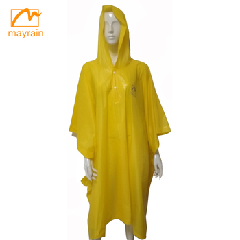 2018 Customized High quality adult Pvc polyester long hooded men rain coat,Rain poncho CE Standard