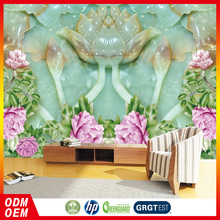 Large peony flower chinese 3D wallpaper Jade desgin murals wallpaper for home decoration manufactory hot sale