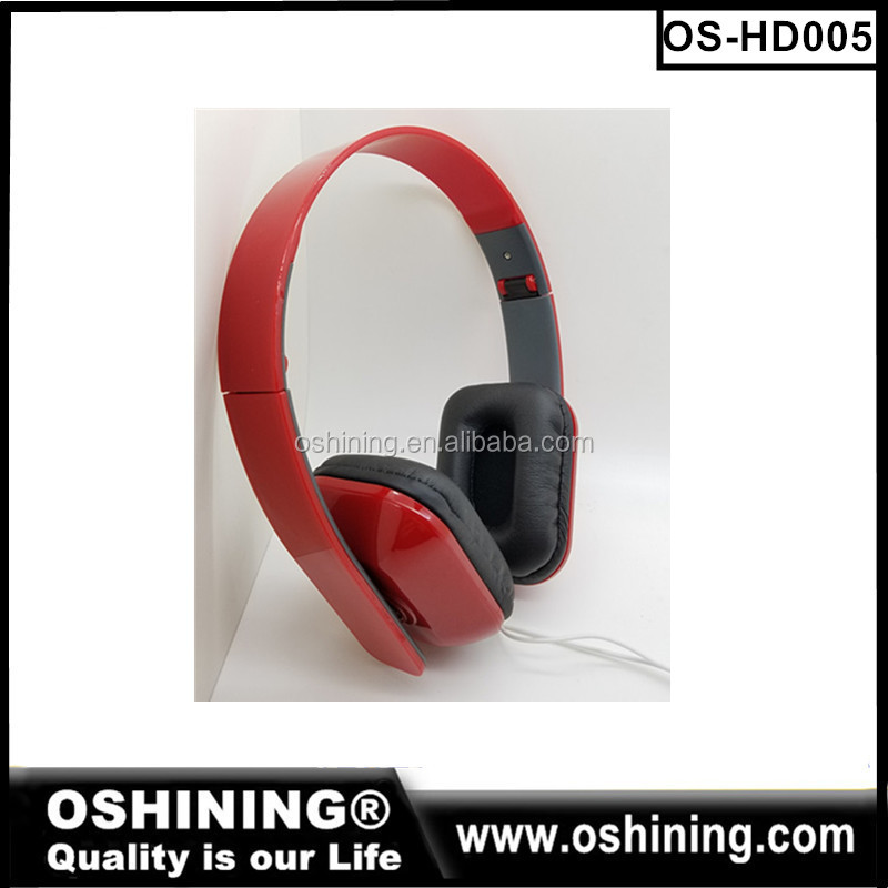 2016 promotion cheap mp3 foldable headphones wired mobile phones headsets