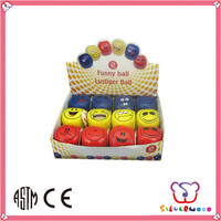 SEDEX Factory customized printed kids soft sport toy pu stress smile ball