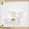 Bamboo style handle fine white ceramic modern japanese tea cup set
