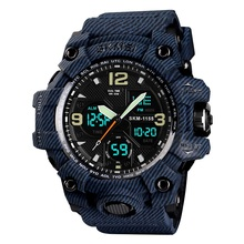 Very <strong>hot</strong> in Tik Tok and Instagram Skmei 1155B cowboy digital Sport waterproof high quality Watch Analog Digital Watches For Men