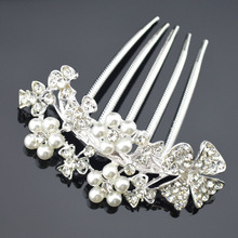 Fashion Crystal And Rhinestone Bridal Headpiece Wedding Hair Comb