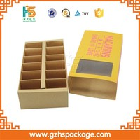 low sale custom printing luxury small kraft paper cookie boxes, wholesale high quality kraft macaron packaging box