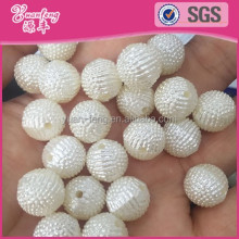 Fruit Ball loose fake pearls abs imitation white irregular shape pearl custom beads