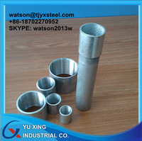 Galvanized Steel Water Pipe specification, plain, threaded with coupling