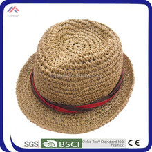 Summer straw top jazz hat for both men and women