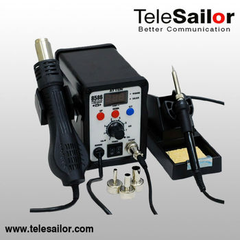 Germany shipping Free tax //2 in 1 Atten Solder Station &SMD rework station AT8586 ,Hot Air Gun and Soldering Station