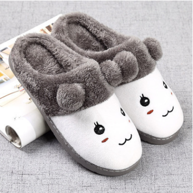 Winter Women Slippers Cartoon Cute Shoes Girls Ladys Slipers Home Indoor House Adult Flat Cotton Warm Shoes