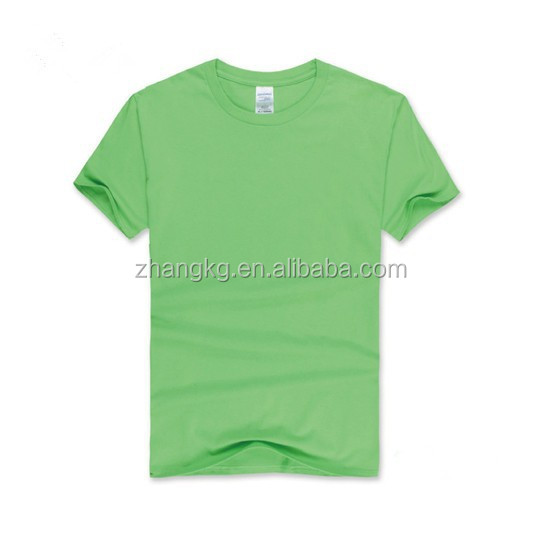 Customized 180g CVC tee shirt in Zhejiang,high quality pure color O-neck t shrit