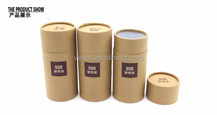 Bien connu Kraft tube emballage en gros de luxe ronde petite boîte ronde en  FJ13