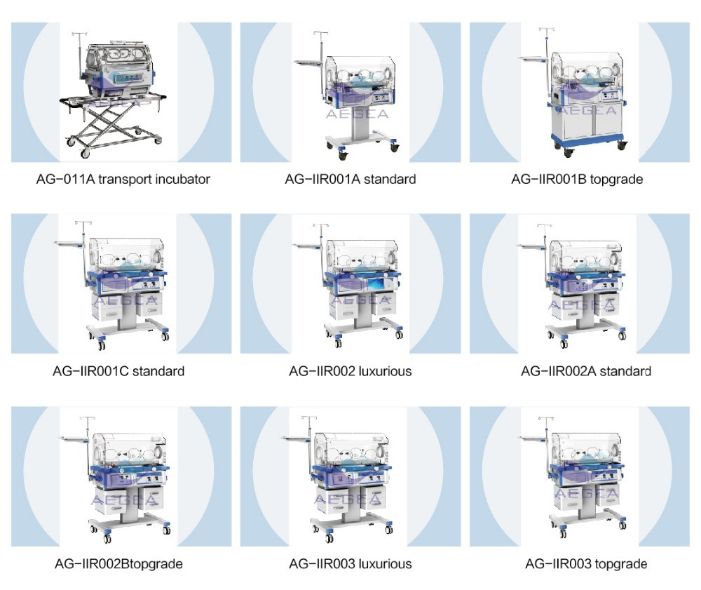AG-IIR002 hospital neonatal warmer high end baby incubator