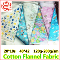 cotton plain color flannel for children clothes / sleeping clothes