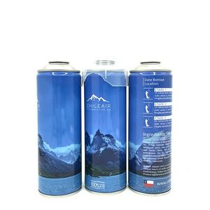 Empty aerosol spray cans for Oxygen and air pressure
