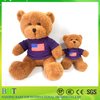 Custom cheap teddy bear with t shirts for promotion