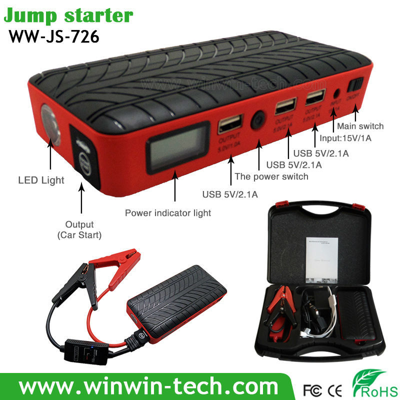 12v mini snap on jump starter Super Powerful 12V and 24V Car Jump Starter Booster For Heavy Duty Vehicles