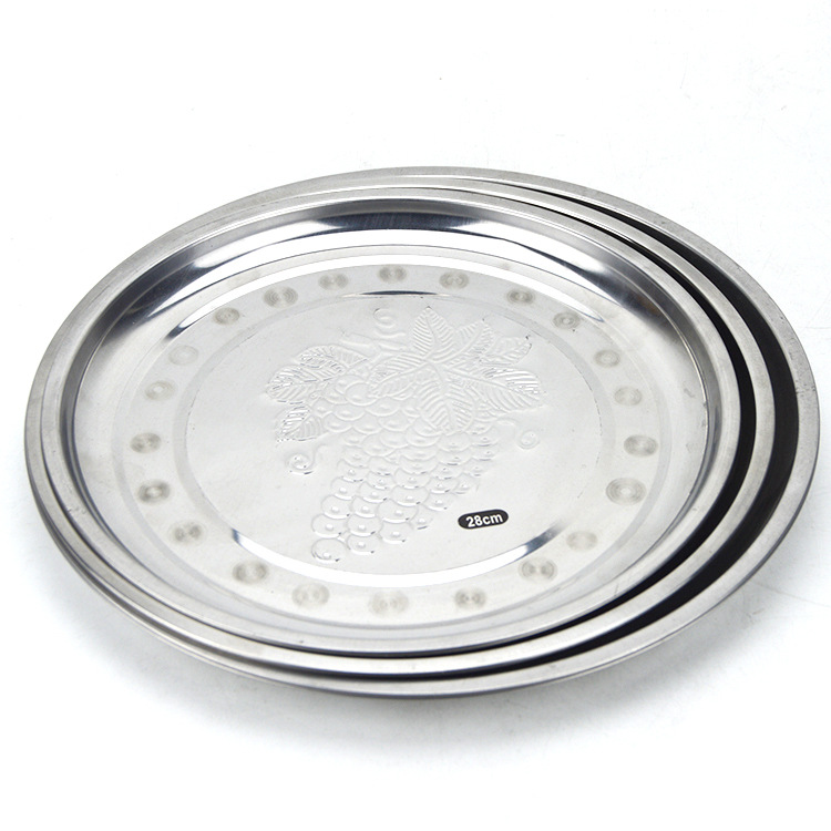 india wedding decoration stailess steel round tray