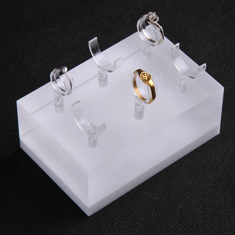 fashion design hand shape block jewellery ring display, earring jewelry display