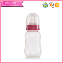 Classic wide neck baby feeding bottle with milk container