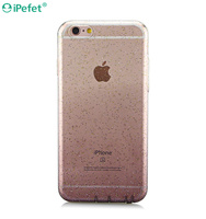 Phone Accessories Mobile Glitter Crystal Soft TPU CellPhone Case For iPhone 6 With Dust Plug