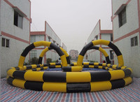 Inflatable Go Kart Race Track with Simple Style for Kids Sport Entertainment