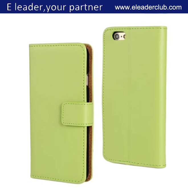 For iphone 6 high quality genuine leather flip case
