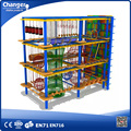 New climbing rope nets indoor ropes course for shopping mall