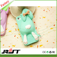 Buck Teeth Rabbit Silicone Case for iPhone 6/6s Plus Colorful Cute Rabbit Image Full Protective Cover for iPhone 6 Plus Case