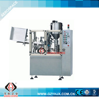 Cosmetic plastic tube filling printing cutting machine