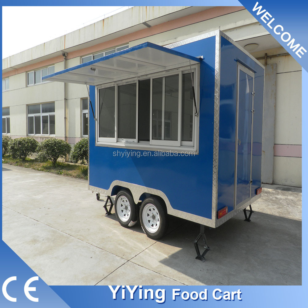 FS400C Yiying factory made brand used fast food cart/bbq mobile food kiosk catering trailer for sale