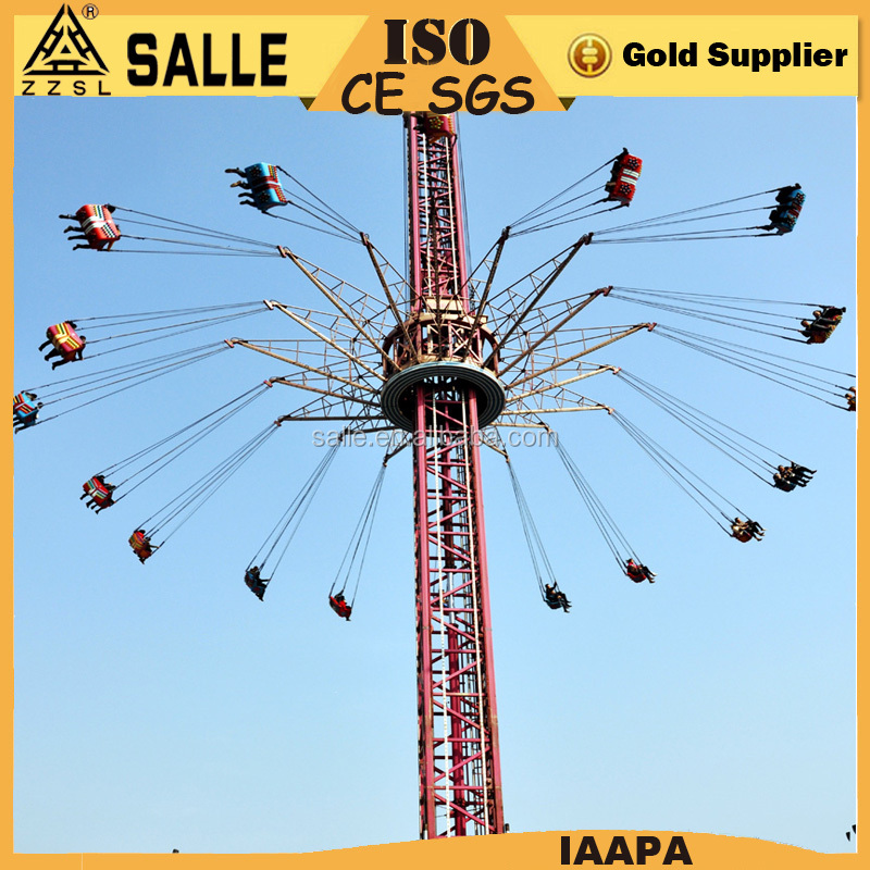 large adult theme park rides sky flyer flying sky tower rides