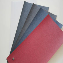 Single Color leather embossed PVC Coat Paper for wine box book invitation card 220 gsm