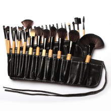 Custom logo 32pcs makeup brushes,private label wood 32pcs makeup brushes