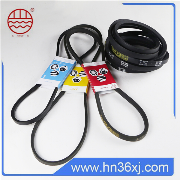 2016 Sanliu Brand industrial universal mitsubishi v-belts for selling