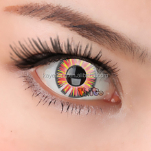CL291 cosplay multi color soft contact lens fireflame red